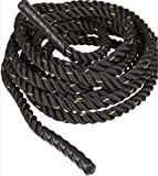 50 Feet Long Battle Rope Heavy Gym Workout Training Exercise Rope Thick 25mm Xpeed Thick Rope (Soft Grip)