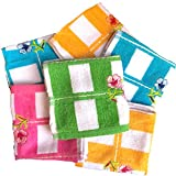 A'SHOP Women's Soft Thick Towel Colorful Handkerchiefs (White, 25 W x 25 L) Pack of 6