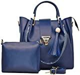 Blue Hand-Held Bag