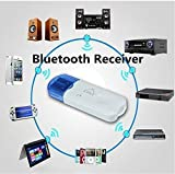 BOKA® USB Wireless Music Audio Bluetooth Receiver,Dongle 4.0 USB Adapter Hands-Free Dongle Kit Compatible with Speaker,Home Theater,Car Music System,PC and All Mobiles etc.- White