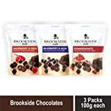 Brookside Dark Chocolate Pomegranate 100g, Blueberry and Acai 100g & Raspberry and Goji 100g Pouch, 3 x 100 g