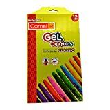 Camel Classic Gel Crayons, 12 Shades (Multicolor)