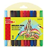 Camlin Kokuyo Brush Pen, 12 Shades (Multicolor)