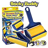 CONSENT Sticky Lint Roller with Cover,Reusable Washable Travel Dust Picker Cleaner Remover Brush Value Set for Clothes Pet Hair Debris - Blue, Yellow