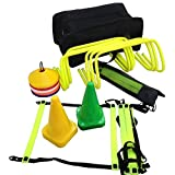 CW Football Training Kit Speed Agility Coordination Footwork Multi Sports Complete Coaching Set (Hurdle, Cone , Marker and Ladder) for Young 15 and Above Boys