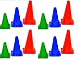 CW Hard Marker Set of 12pcs Track & Field Marker Traffic Agility Ground Cones Choose 6