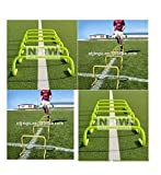 CW Speed Training Exercise Hurdles Set of 6 Outdoor Track & Field Agility Hurdle 6inches