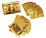 Dabster Gold Plated Poker Playing Cards (Golden)