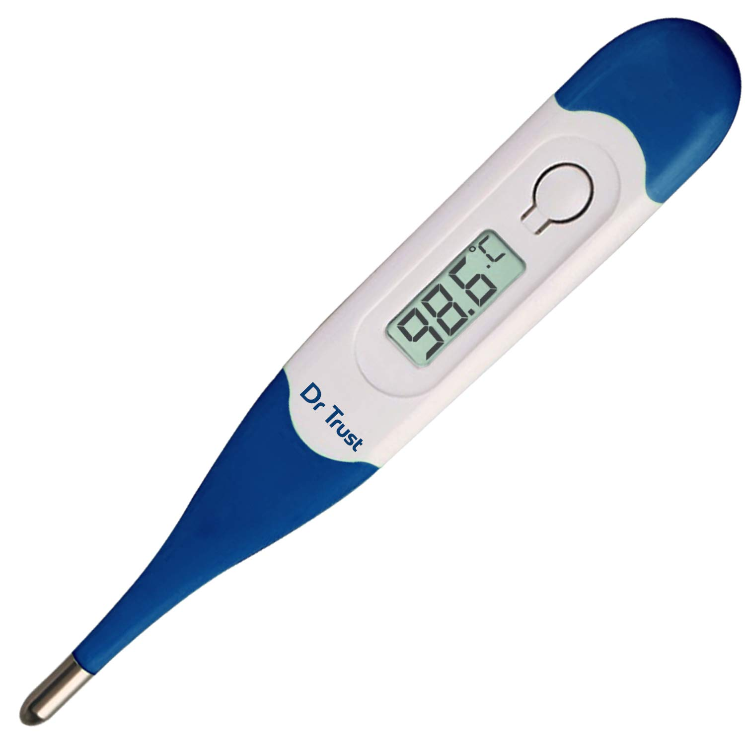 Dr Trust (USA) Waterproof Flexible Tip Digital Thermometer (White) … …