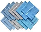 Ethniche Designs Men's Cotton Handkerchiefs (Multicolour, Free Size) - Pack of 12 Pieces