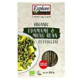 Explore Cuisine Organic Edamame & Mung Bean Fettuccine - 200 g - Gluten Free Pasta, High Protein Pasta - USDA Certified Organic, Vegan, Kosher, Non GMO