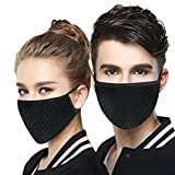 Fashiol Dust Masks Breathable Reusable for Outdoor Sport Half Face Ear loop Mask Dust Cotton Masks Free Size Pack of 1 Black colour
