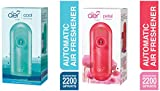 Godrej aer matic, Automatic Air Freshener Kit with flexi control - Cool Surf Blue (225 ml) & matic, Automatic Air Freshener Kit with flexi control - Petal Crush Pink (225 ml) Combo