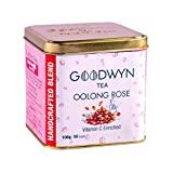 Goodwyn Oolong Rose Tea, Pure Oolong Tea with Rose Petals, 100 Grams