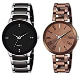 HORIZON Analog Multi-Colour Collection of 2 Analogue Wrist Watches for Men and Women (HORIZON108227)