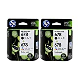 HP 678 Ink Advantage L0S24AA Black and Tri Colour Cartridge - Pack of 2