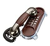 Jukkre Wall Mounted Telephone Corded Phone Landline Antique Retro Telephones for Home Office Hotel (17 cm x 4 cm x 4 cm)