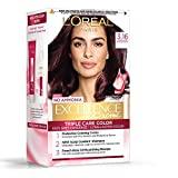 L'Oreal Paris Excellence Creme Hair Color, 3.16 Burgundy, 72ml+100g