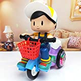 Magicwand Bump and Go Stunt Tricycle Toy with 3D Lights for Kids (Boy)