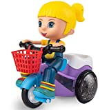 Magicwand Bump and Go Stunt Tricycle Toy with 3D Lights for Kids (Girl)