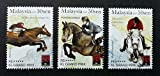 Malaysia 2007 Grand Prix FEI Sports Horse Riding Games 3 Stamps Set MNH