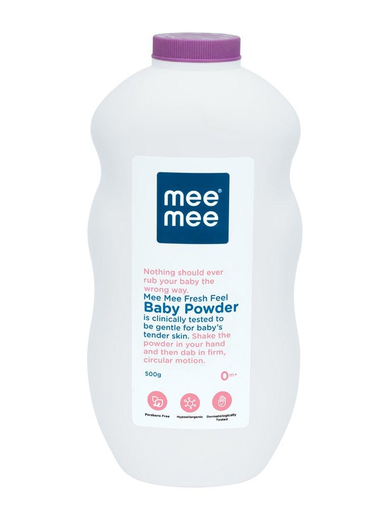 Mee Mee Baby Powder (Fresh Feel - 500 g (Single Pack))