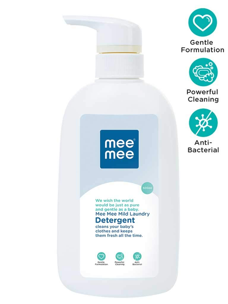 Mee Mee Mild Baby Liquid Laundry Detergent (500 ml - Bottle)