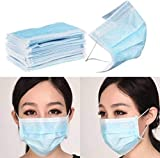 MOBIQUICK Nose Mask-3ply Disposable Mouth Masks 10 pcs Nose Mask Dust Mask Pollution Mask (Color May Vary)