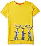 Mothercare Boy's Animal Print Regular fit T-Shirt (SC392-1_Yellow 2-3 Y)