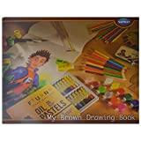 Navneet drawing book Brown (Brown) - Set of 12