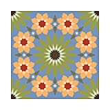NISH! Tile-Look Wallpaper #001-07-2x (Textured Paper, 4sqft - 50'' Width roll, 2ft Length))