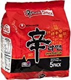 Nongshim Ramyun Korean Style Spicy Noodle Soup Instant Noodles (Pack of 5)
