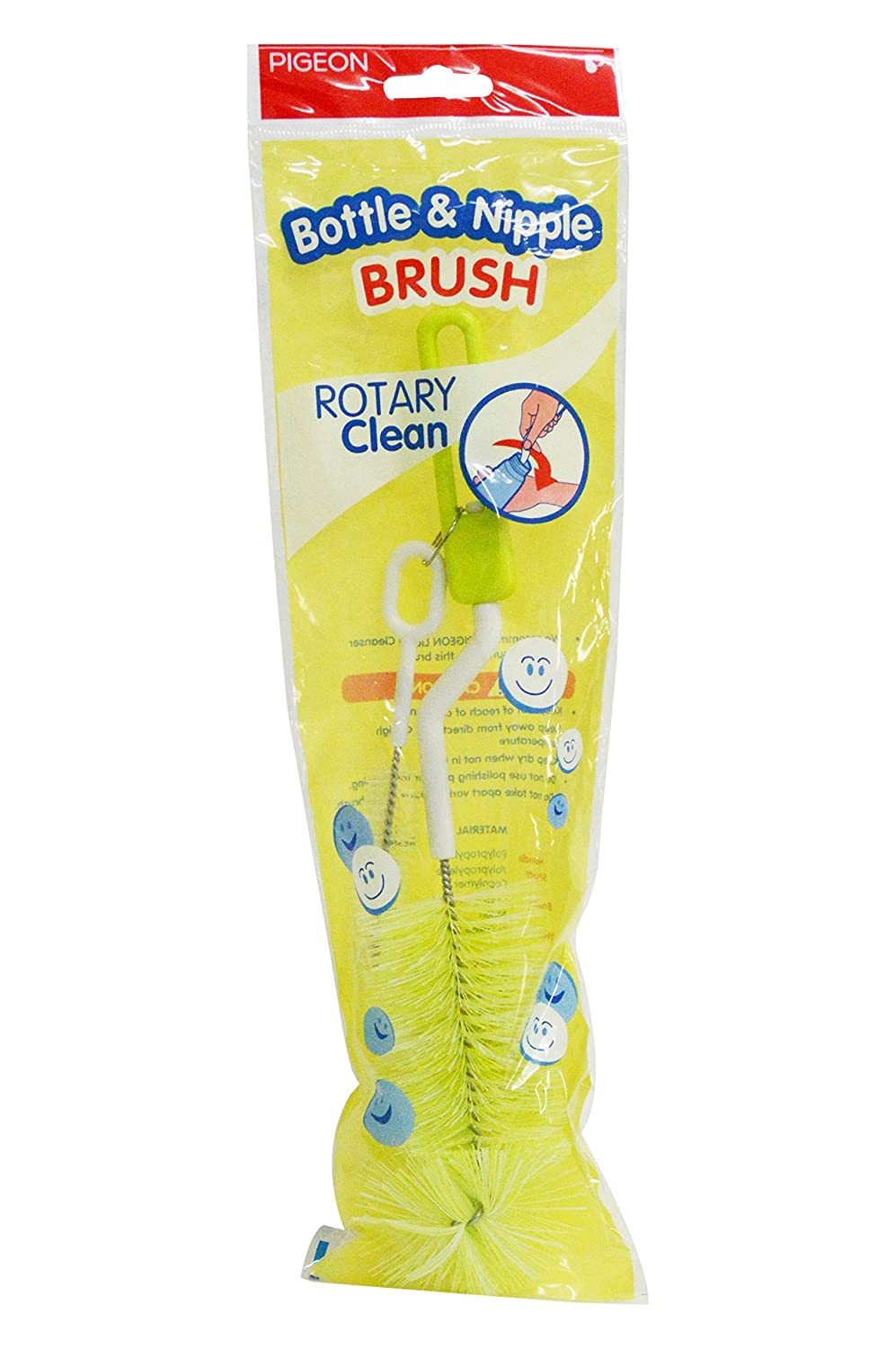 Pigeon Nylon Brush For Bottle And Nipple (Color May Vary)