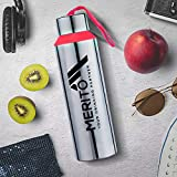 Priyaj Merito High Quality Premium Steel Leak Proof Unbreakable Lightweight Water Bottle 730ml with Strap Handle| Red| Eco Friendly| Travel Sport College Every Day Use| Fridge