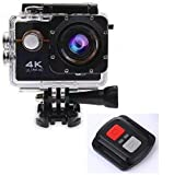 Robiless 4K Ultra HD Water Resistant Sports Wi Fi Action Camera with Remote Control and 2 Inch Display (16MP, Black)