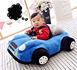 RVA Car Shape Baby Supporting Seat Soft Plush Cushion and Chair for Baby/Kids - Blue