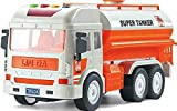 RVM Toys Jumbo Size Pull Back Oil Water Tanker, Friction Power Toy Trucks for 3+ Years Old Boys and Girls, Light & Sound Toy for Kids