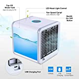SIAMO® Express Mini Portable Air Mini cooler Fan 3 in 1 Personal Space cooler Conditioner, Humidifier and Purifier for Home/Office/Desk