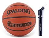 Spalding Basketball Rebound 6 Combo ( Spalding NBA Rebound, Size 6,Brick + Nivia Ball Air Pump)