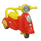 SUNBABY Activity Ride Scooty Playtime Scooter Toy Heavy Duty Plastic for Baby and Toddlers (1.5 to 3 Years ,Red/Yellow)