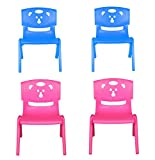 Sunbaby Chair, 2 Blue + 2 Pink