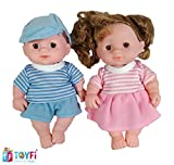 TOYFi - Children's First Choice® Beautiful Doll Set for Kids, Little Handsome Boy Beautiful Girl Doll Set for Kids (Style 2)