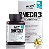 WOW Omega-3 Fish Oil Triple Strength 1000mg (550mg EPA; 350mg DHA; 100mg Other Omega 3 Fatty Acids) - 60 Capsules