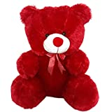Wowobjects Soft Plush Fabric Cherry Teddy Bear with Neck Bow (Red, 3 Feet)