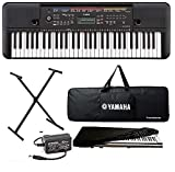 yamaha keyboard PSR-E263, 61-Keyed Portable Keyboard with Stand, Adapter, Padded Bag and Dust Cover -Combo Pack