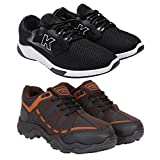 Zenwear Combo Pack of 2 Sports and Running Shoes for Men