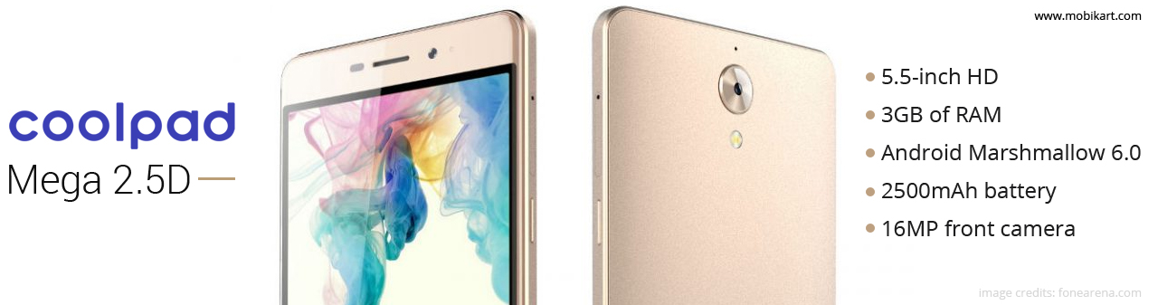 Coolpad Mega 2.5D Launched In India With Price Tag Of Rs. 6,999
