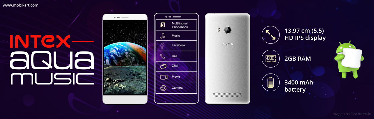 Intex Aqua Music smartphone launched at Rs. 9,317