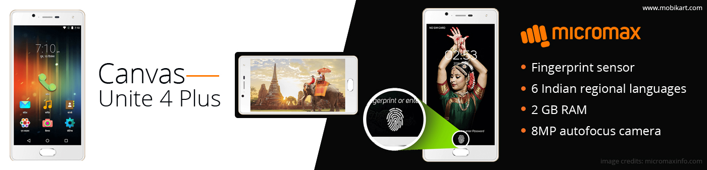 Micromax Canvas Unite 4 Plus entered with Fingerprint sensor at Rs. 7,999