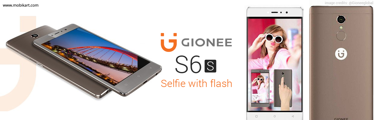 Premium Selfie Phone with Flash 'Gionee S6s' Set to Launch in India